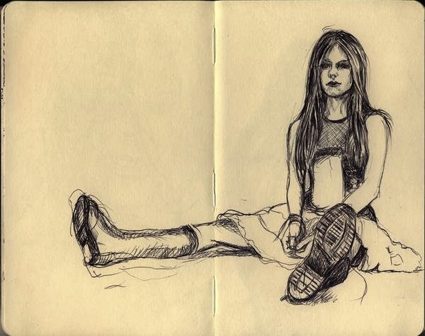 Avril Lavigne biro drawing - Pierpaolo Andraghetti
