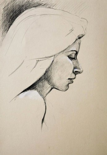 pencil portrait by pierpaolo andraghetti