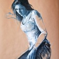 Martina - oil on paper - 70x100cm - 2012