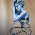 Alice - oil on paper - 70x100cm - 2012