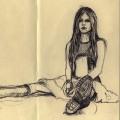 Avril Lavigne biro drawing - Pierpaolo Andraghetti