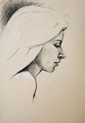 pencil portrait by pierpaolo andraghetti